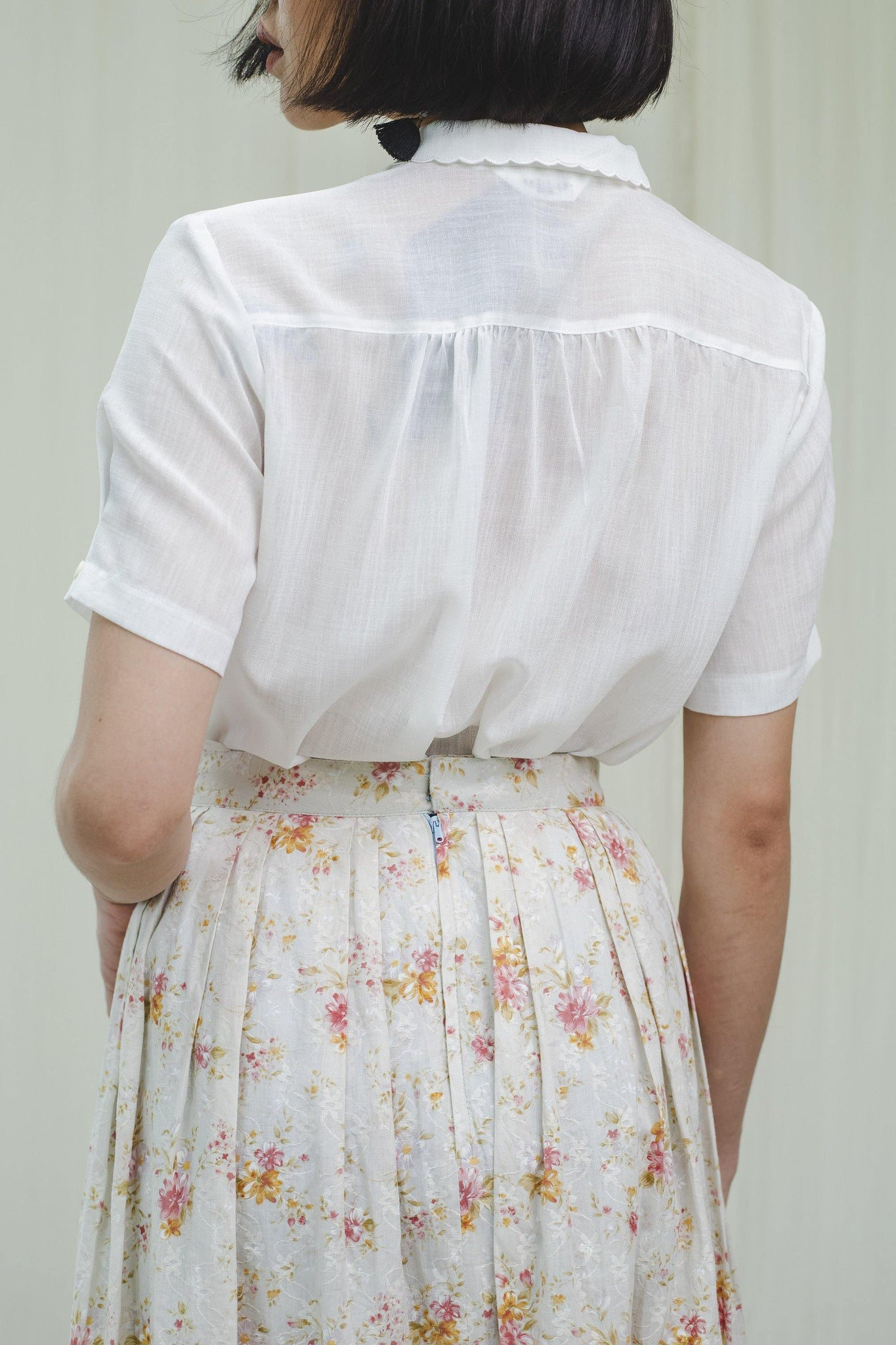 Skirt l vintage 80's cotton skirt - Sugar & Cream Vintage