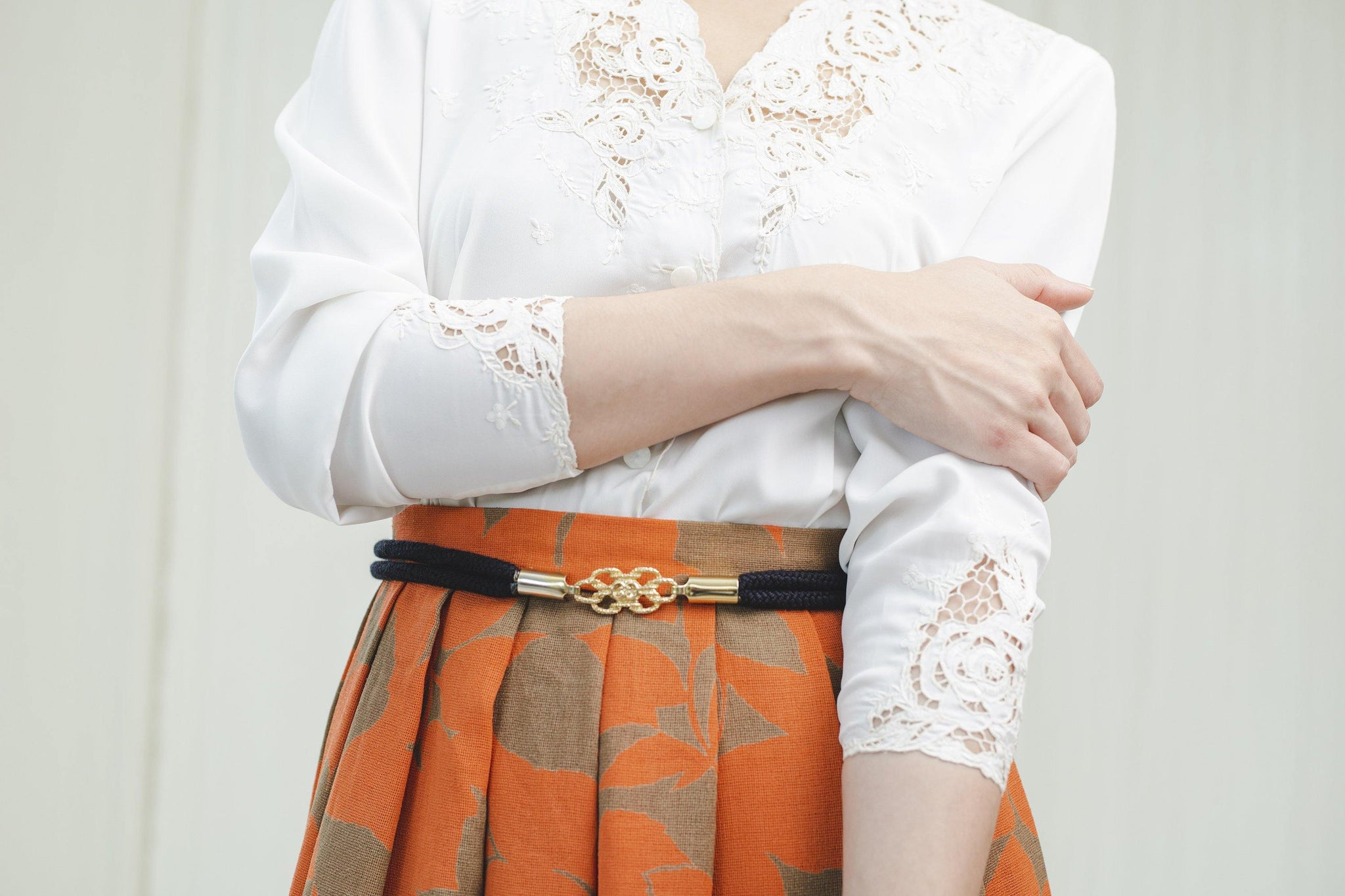 Pretty vintage skirt in orange - Sugar & Cream Vintage