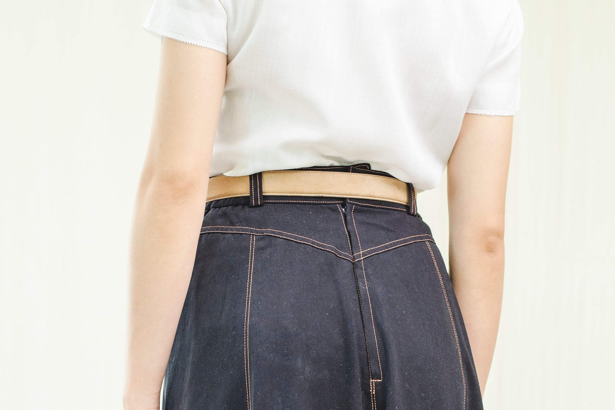 Dark denim vintage skirt - Sugar & Cream Vintage