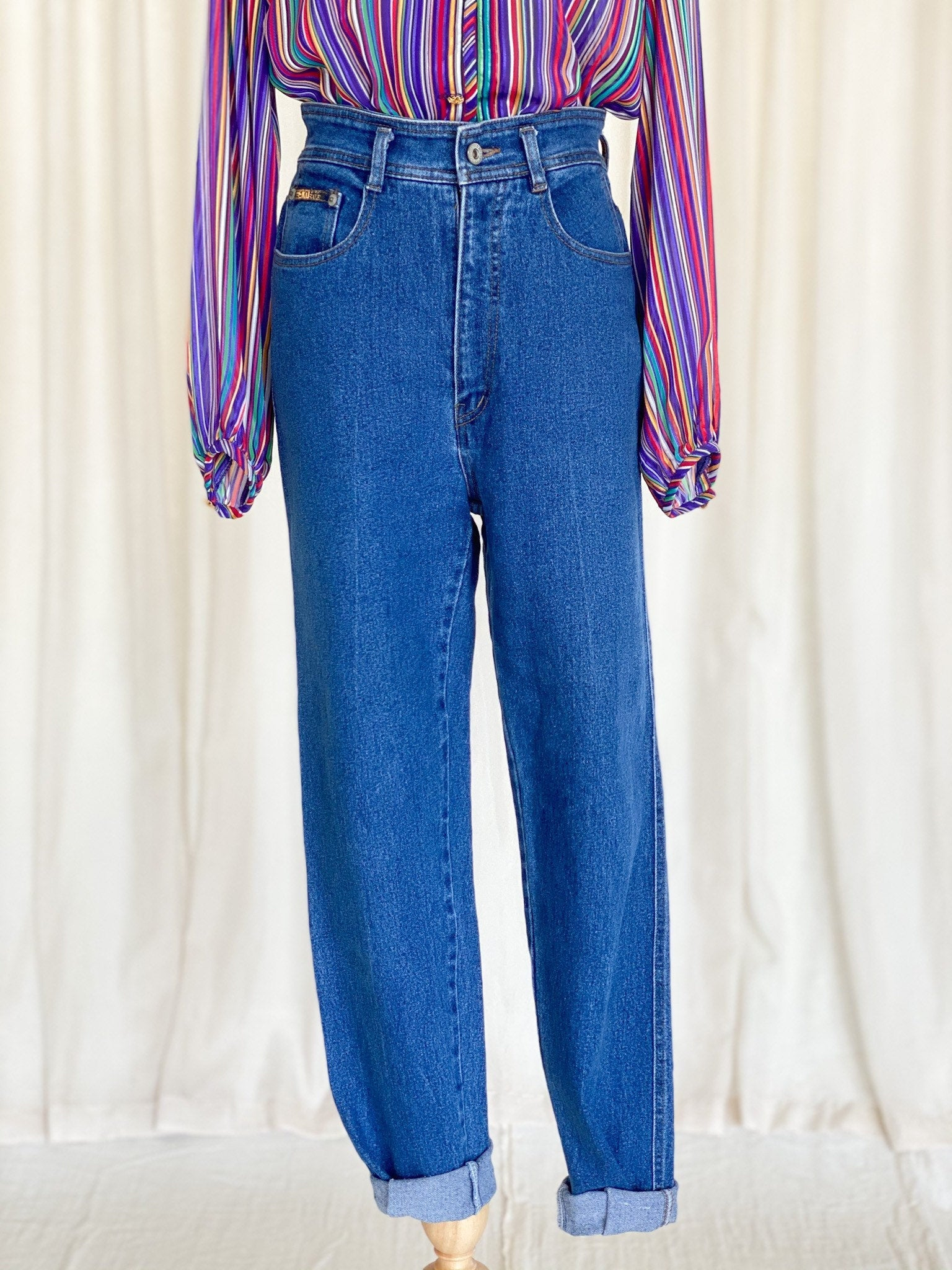 Vintage 80s blue denim pants