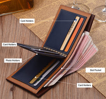 Load image into Gallery viewer, Men's Vintage BAELLERRY Slim Luxury Wallet