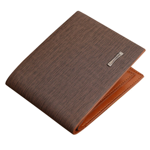 JINBAOLAI Men Business Leather Short Wallet