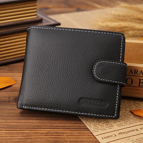 JINBAOLAI Men Famous Leather Bifold Wallet