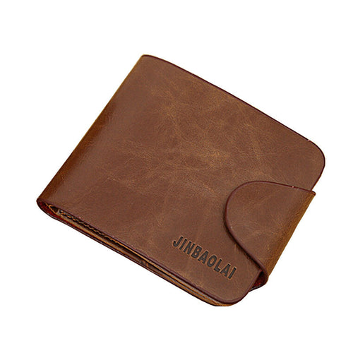 JINBAOLAI Men Business Luxury Leather Bifold Wallet