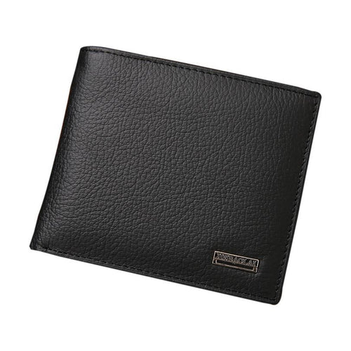 JINBAOLAI Men Fashion Leather Bifold Wallet
