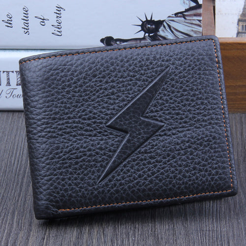 XINIU Men Genuine Leather Bifold Business Wallet