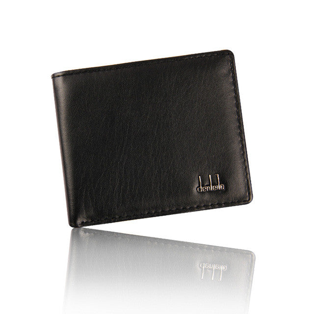 XINIU Men England Style Business Leather Bifold Wallet