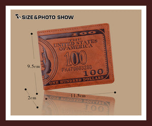 US 100 Dollar Bill Wallet