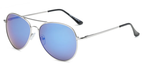 Classic Premium Metal Mirrored Aviator Fashion Sunglasses