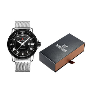 NAVIFORCE Mens Casual Stainless Steel Wristwatch