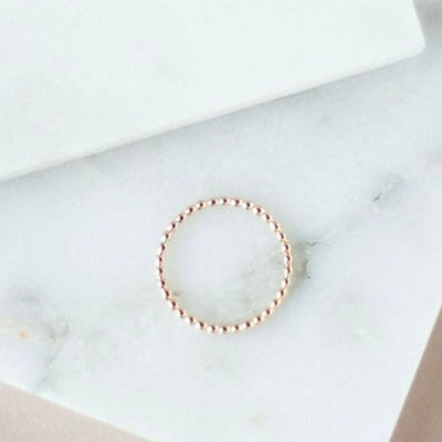 Gold bubble Ring. Minimal wedding band