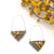 Bumblebee Jasper Triangle Earrings
