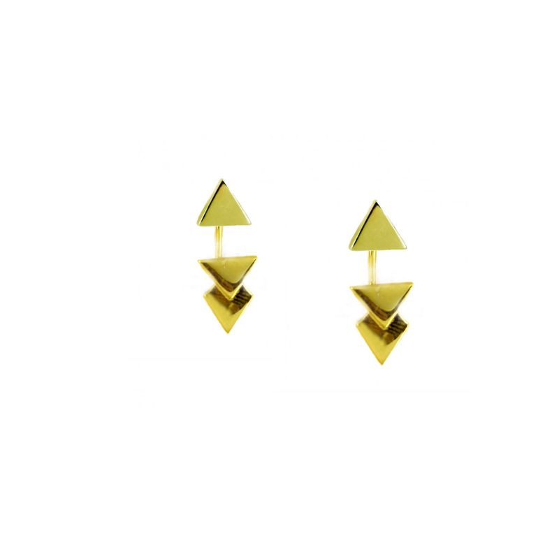 Double Triangle Earrings