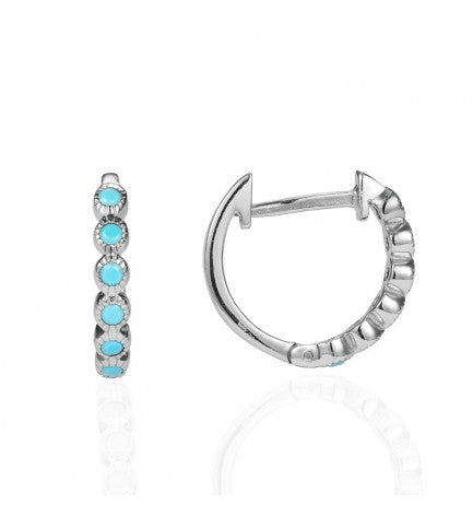 Turquoise Hoop Earrings 12 mm