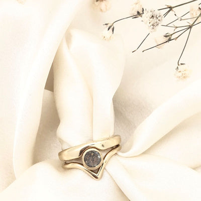 Moonstone Embrace Ring set