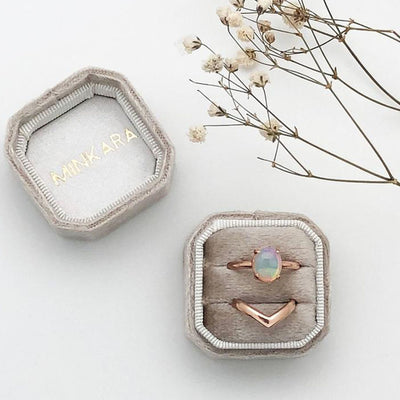 Ethiopian Opal Rose Gold Cocktail Ring