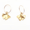 Gingko Leaf Earrings - Electroformed