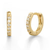 Gold Pave Hoop Earrings 10 mm