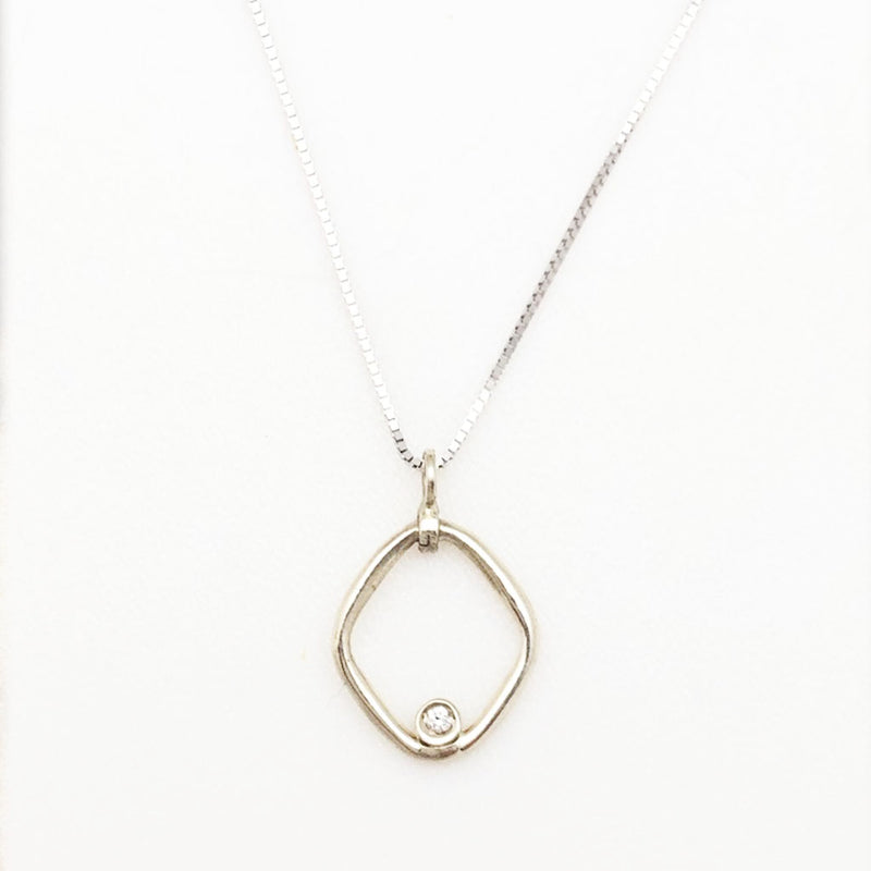 In the Womb Dainty Gold Diamond Necklace