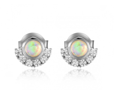 Opal Sun Stud Earrings