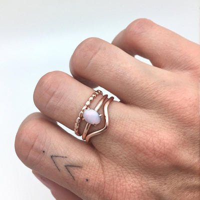 Milky Way ring set