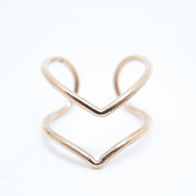 Open Double Arrow Ring