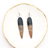 Petrified Palm Root Teardrop Earrings