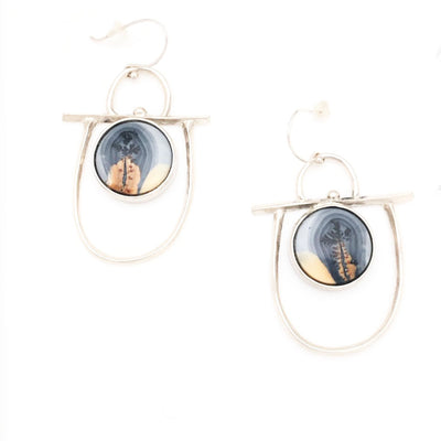 Dendritic Jasper Transformable Earrings