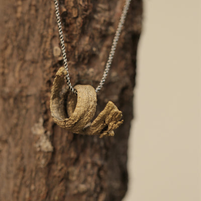 Spiral Tree Bark Necklace