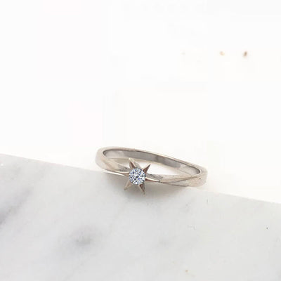 Winter Star Diamond Solitaire ring