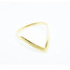Thin Chevron Ring