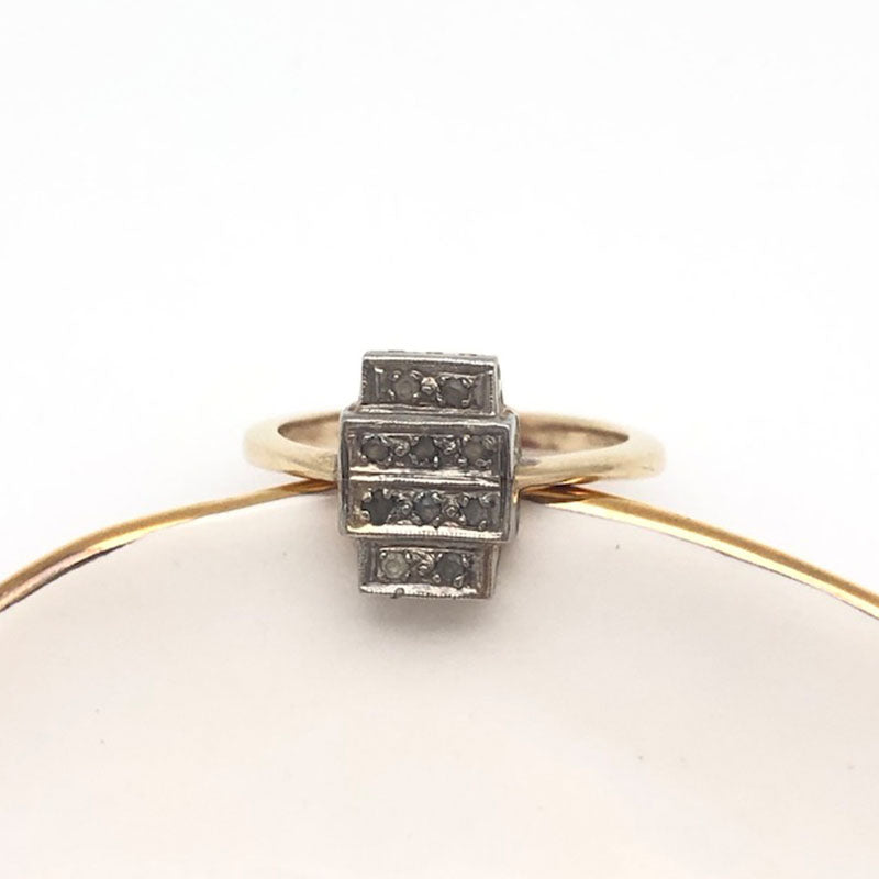 Original Art Deco Vintage Diamond ring