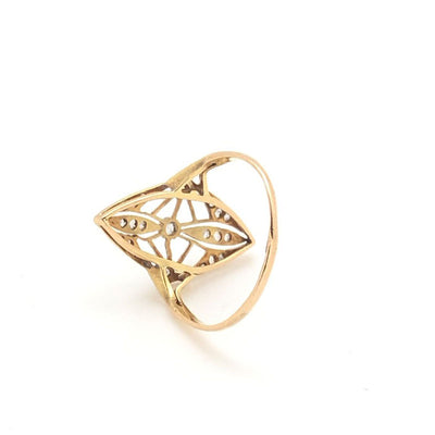 Victorian Antique Vintage Filigree Diamond ring