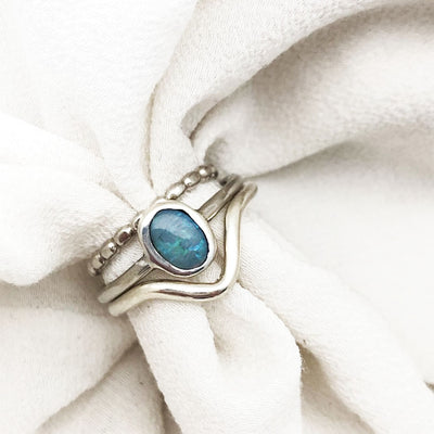 Blue Milky Way Ring