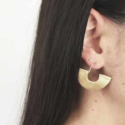 Leaf Textured Earrings