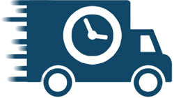 Same Day Shipping Fast Blue Truck with Clock