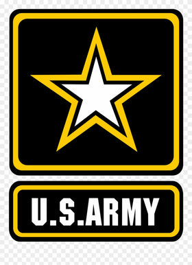 Black U.S. Army Logo with Star