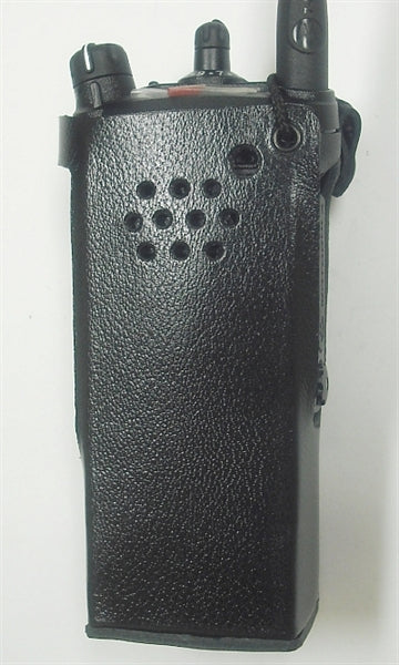 PMLN5660 Waveband Heavy Duty Leather Case For Motorola APX 6000 Series Radio WB# WV-2089B-C(This model clips on to any police or military utility belt) - Waveband Communications