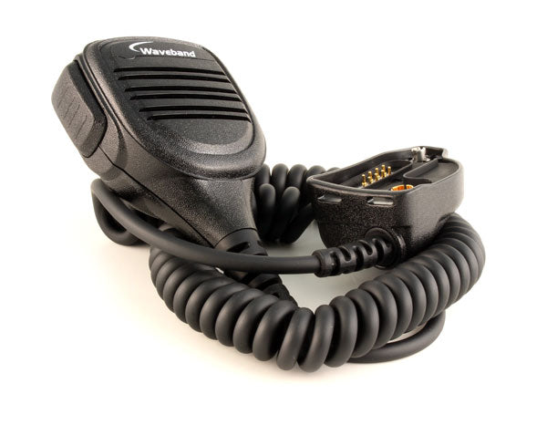 Heavy duty remote speaker microphone for M/A Com P7300, P5500, P5400, P5300, and XG-75 Portables WB