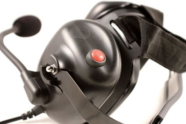 Push to talk for Harris M/A-Com Behind-the-head Noise Cancelling Headset