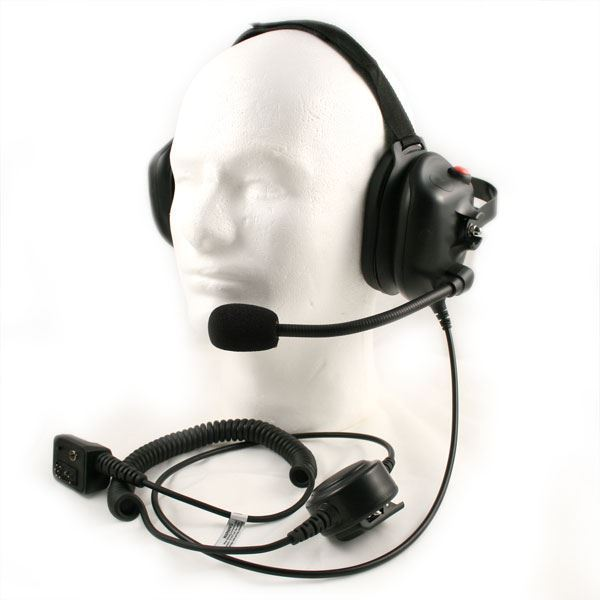 Harris M/A-Com Behind-the-head Noise Cancelling Headset - Waveband Communications