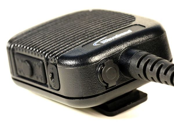 Public Safety Grade Heavy Duty Speaker Mic for HARRIS M/A-COM / TYCO: P5300 Series, P5400 Series, P7300 Series,  & XG-75 series potable radios.  WB# WX-8000-M4-3.5mm - Waveband Communications