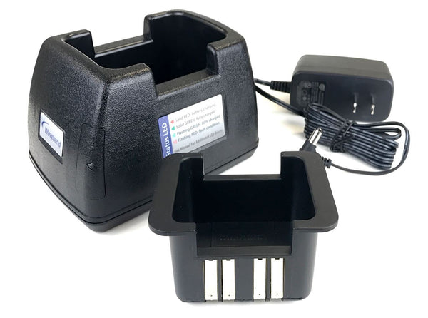 Single-Unit Tri-chemistry Rapid Charger for ICOM F50V Whisper Radio (WF50Charger)