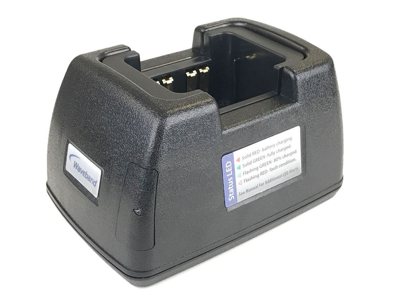 Waveband single station charger for Harris P5200 Series Radio. WB