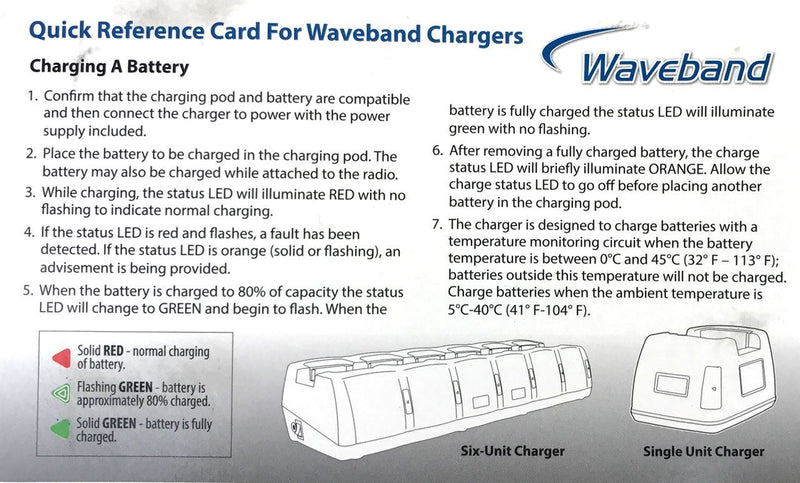 Waveband single station Tri-chemistry Charger for the  Harris P7300 Series Radio WB