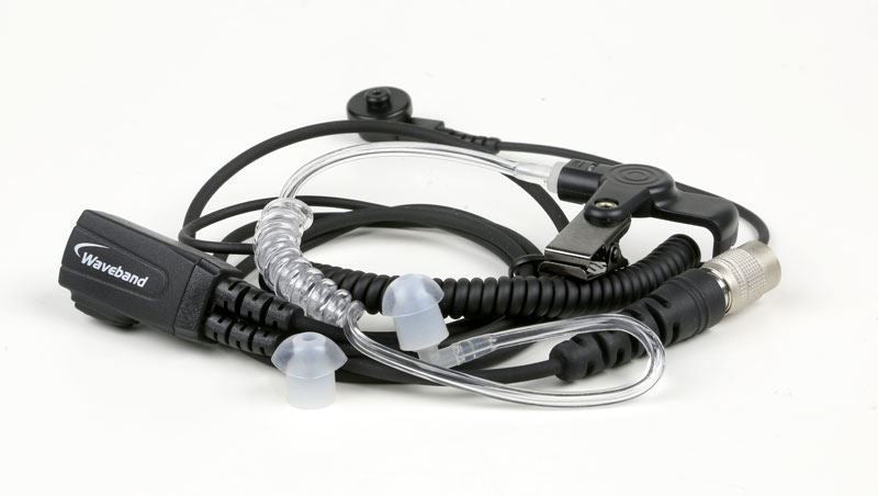 WV1-15023X-1wire 1-Wire Surveillance Kit with quick disconnect translucent tube, black for use with Kenwood NX210 Radio