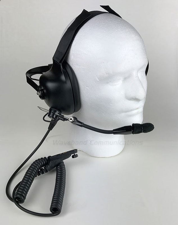 Noise Cancelling Headset for Motorola XPR 7550 Portable Radio - Waveband Communications