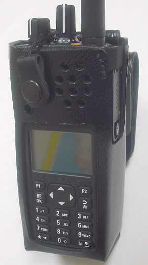 Motorola XPR 7550 Leather Swivel Case - Waveband Communications