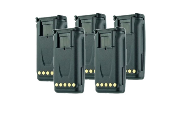 Five of our WV-LE234066LIIS 2000 Mah Lithium Ion Battery for Harris Ma/Com P5300, P5400, & XG-75 Portable Radios