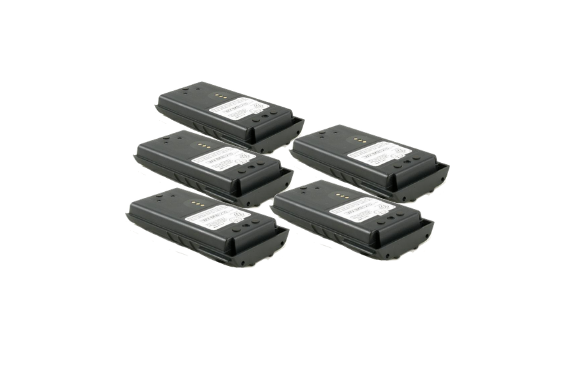 Five of our 2700 mAh Battery for M/A-Com Harris Public Safety Radios - Waveband Communications